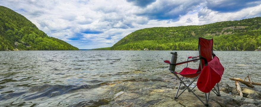 Camping Chair with Footrest and Canopy